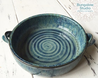 Ceramic Casserole Dish, Medium Sized Pottery Casserole Dish, Gift for Baker