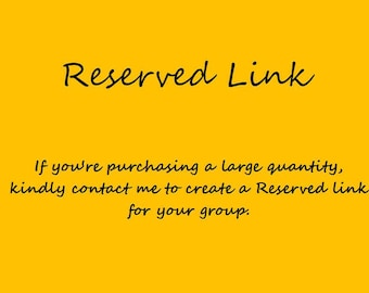 Reserved Link is Special Designed for a Large Quantity Purchase
