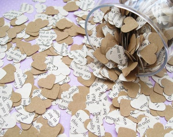 Game of Thrones Heart Kraft Book Confetti Mix - Choose from 200 to 2000 Hearts - Wedding Birthday Party Table Decor