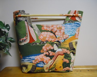 Small Purse Clutch Chopsticks Garden Geishas
