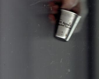 u.s. space &rocket center metal shot glass