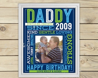 Dad Wall Art Printable - Dad Birthday Gift - happy birthday daddy - Daddy Birthday - Daddy Gifts from Son - Personalized Dad Gift