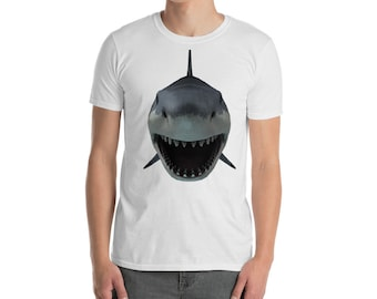 Shark T-Shirt, Tshirt with Shark, Guys Shark shirt. Shark lover gift, Sharks