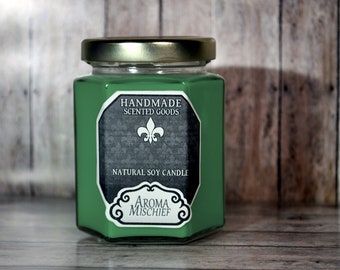 Green Tea & Lemongrass  Soy Candle    Jasmine   Scented Candles   Housewarming Gift   Gift For Her   Home Decor   Decorative Candle