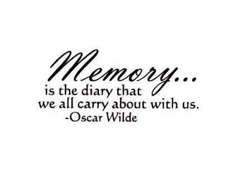 Memory is the diary that we all carry about with us Unmounted rubber stamp, Oscar Wilde quote, memories, Sweet Grass Stamps No.15
