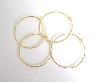 Set of 4 brass 35mm hoops