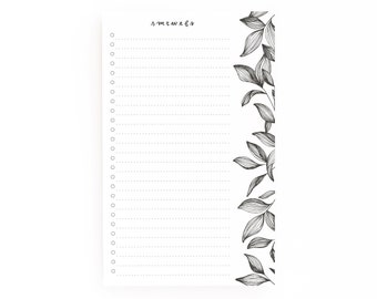Botanical To Do Notepad | Hand Lettered Daily Planner Notepad with To Do List: Botanical To Do List Notepad
