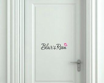 Bedroom Door Decal, Bird Wall Decal, Custom Door Sign, Girl Name Decal, Kids Door Signs, Kids Door Vinyl Sign, Preteen Teen Girls, Decals