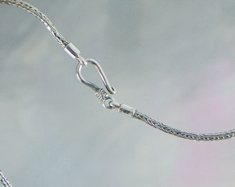 Woven Style Sterling Silver Chain
