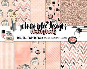 Blushing Beauty Vector Art Digital Scrapbook