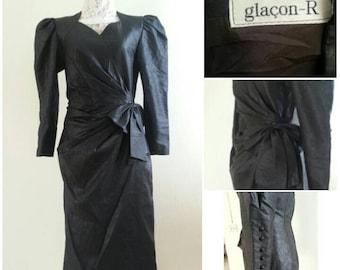 Vintage glacon-R black Dress Size 9 will fit Medium