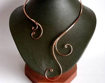 Wire Necklace, Copper Necklace, Collar Necklace, Statement Necklace, Unique Necklace, Open necklace