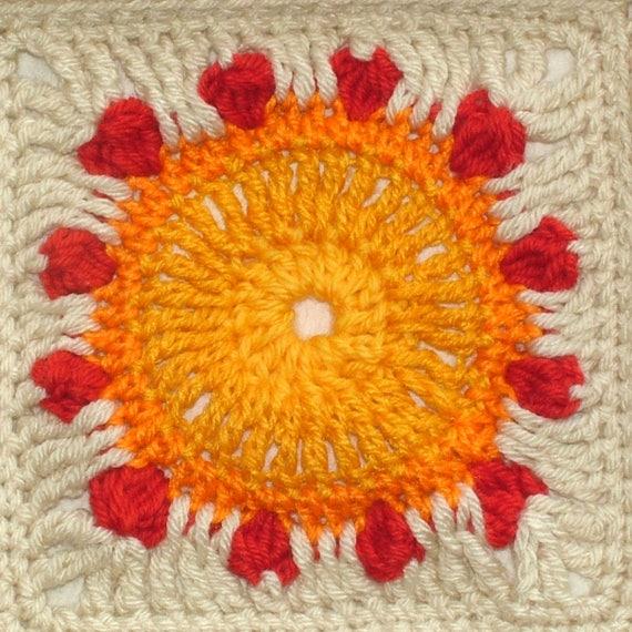 Crochet Pattern Afghan Blanket Throw Rug Digital Instant PDF