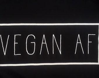 Vegan AF shirt Blue