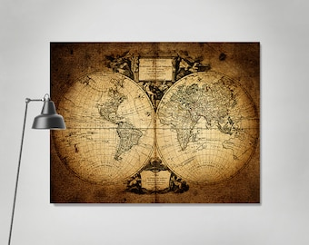 Large world map vintage style map map poster world map vintage large world map vintage style map map poster world map vintage travel map world map gumiabroncs Images