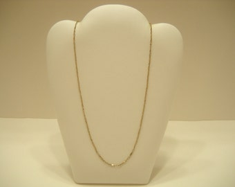 """17"""" GOLD TONE LINK Necklace (0298) Sarah Coventry"""