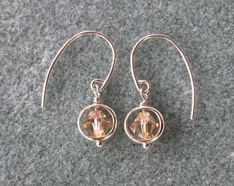 Delicate sterling silver earrings with Swarovski crystals