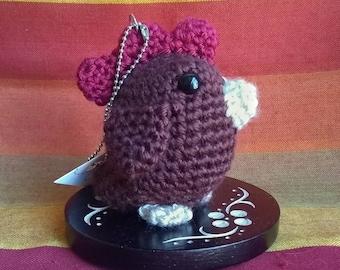 Taylor the Chicken - Amigurumi Vegan Crochet Plushie Stuffed Animal Keychain