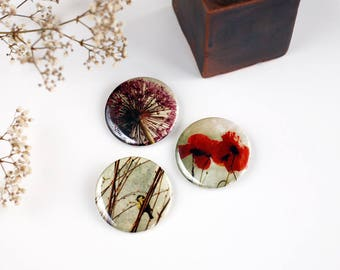 #4 three badges Nature Photography set - size 4.5 cm