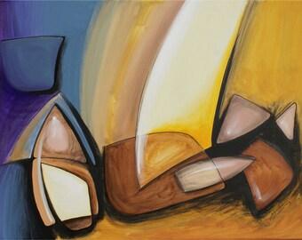 Original Abstract Art, Series R: Stones 1