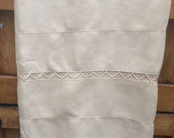 """Vintage gold  embroidered silk tablecloth 84"""" x 60"""""""