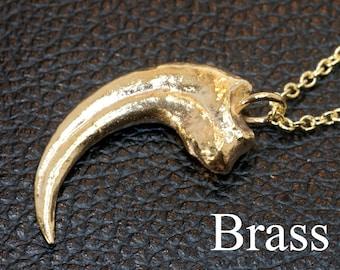Velociraptor Claw Necklace - Velociraptor Dinosaur Claw Pendant - Science Jewelry - Dinosaur Pendant - Dinosaur Jewelry