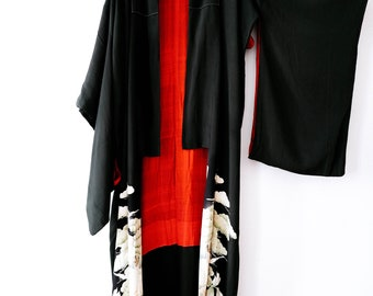 Vintage raw silk kimono