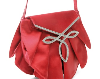 Jewelry - red pleated satin bag