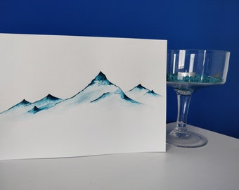 Watercolor painting - mountains
