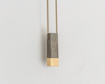 Concrete Necklace [P1] necklace pendant 24k gold