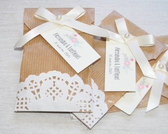 Small kraft paper bags for wedding favors