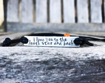 Custom Hand Stamped Bracelet, friendship bracelet, Custom Name Jewelry, Quote Bracelet, Gift Idea, bulk stamped bracelets