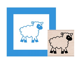 Baby Lamb Rubber Stamp