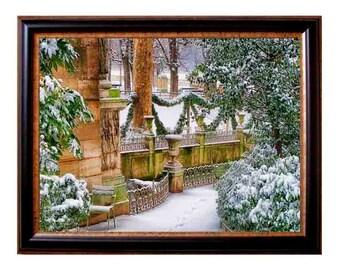 Paris Winter, Paris decor, paris bedroom decor, wall art, architecture