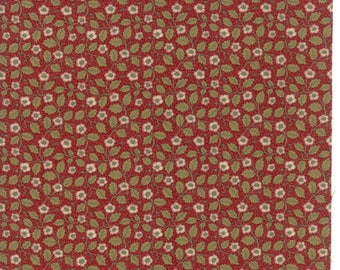 Moda WILLIAM MORRIS 2017 Quilt Fabric 1/2 Yard By V & A Museum - Garnet 7305 14
