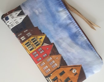 "Zipper pouch ""Bergen Harbour"""