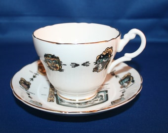 Vintage Regency Alaska Souvenir Teacup and Saucer Made in England Alaskan tea cup English Tea