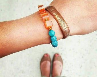 Gemstone bracelet, agate bracelet, Chakra bracelet