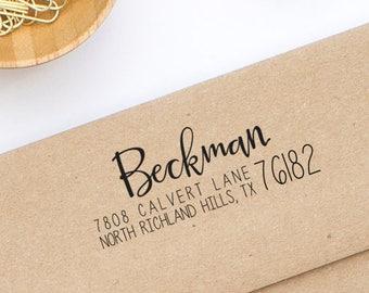Custom Return Address Stamp, Self-inking Stamp, Wedding Invitation Stamp, Personalized Stamp, Envelope Stamp, Calligraphy Stamp, New House