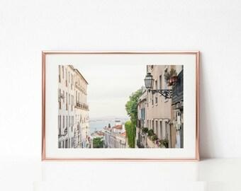 Portugal Wall Prints // Travel Art Decor // Lisbon Photography // Art Prints // Pastel Decor // Tagus River