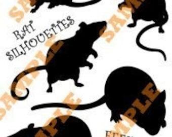 Rat Silhouettes Halloween Decoration PDF