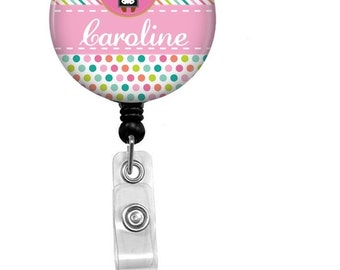 Pediatric Nurse Badge Reel - Id Badge Holder - Badge Holder - ID Badge Reel - Retractable Badge - Nurse - Kids Nurse -Childrens Nurse Badge