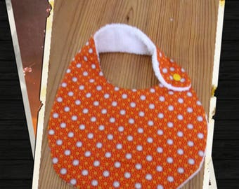 "baby bib reversible cotton eoko-TeX certified organic ""small pan"" and sponge"