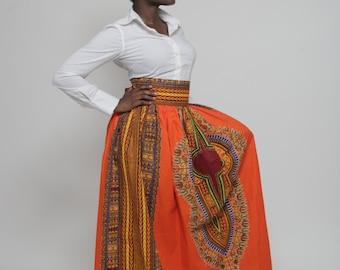 Dashiki Maxi Skirt (Plus Size 14- 24)