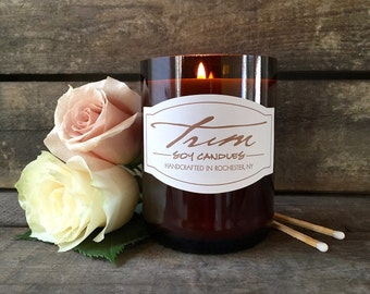 Rose Candle, Wine Bottle Candle, Floral Fragrance, Rose Scented, Aromatherapy, Mother's Day Gifts, Sweet Rose, Upcycled Bottle, Small Batch