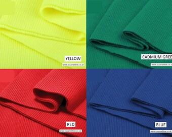 Cotton Elastic Rib Knit Fabric Tube 16 x 80 cm