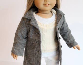 American Girl Doll Clothing, Winter doll outfit, AG Doll coat, Doll jeans, 18inch doll ensemble, Doll Outfit, Ag Doll Jeans