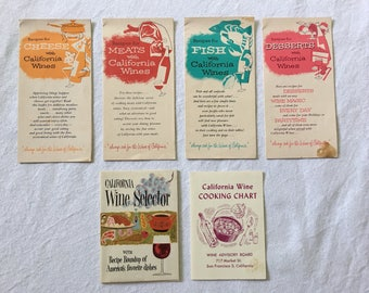 Vintage California wine booklets