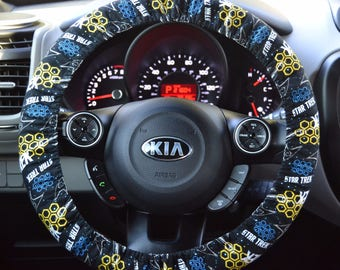 Star Trek USS Enterprise Starfleet Insignia Padded Steering Wheel Cover Car Decor Cute Car Accessories