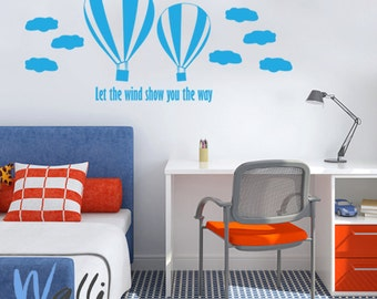 Let the wind show you the way  wall decal